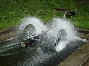 Aerator with drum testing
